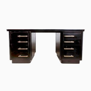 Art Deco Mahogany Desk, 1950s