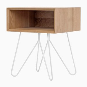 Nove Side Table in White by Mendes Macedo for Galula