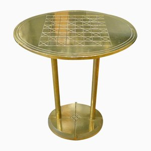 Side or Chess Table in Brass by Peter Ghyczy