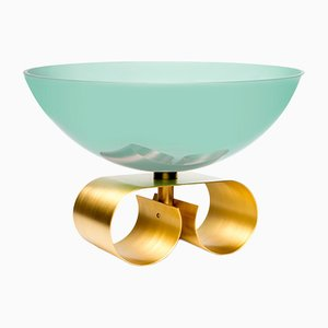 Large Parure II Glass Bowl in Light Blue by Cristina Celestino for Paola C.