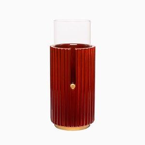 Grand Vase Pin Up I en Rouge par Cristina Celestino pour Paola C.