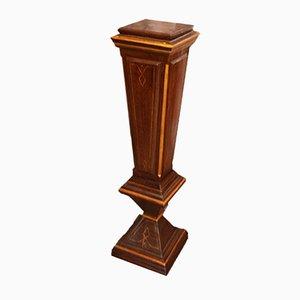 Colonna vintage in legno massiccio