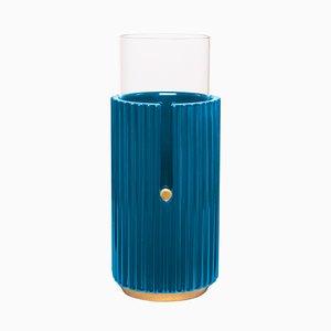 Grand Vase Pin Up I en Bleu par Cristina Celestino pour Paola C.