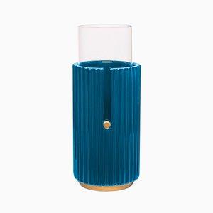 Petit Vase Pin Up II en Bleu par Cristina Celestino pour Paola C.