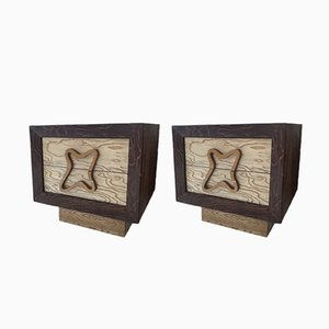 Comodini vintage di Maximilian per Karp Furniture, Stati Uniti, set di 2