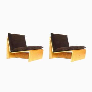 Mid-Century Armchairs by Mario Bellini and Vico Magistretti, Set of 2
