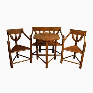 Vintage Set im Arts and Crafts Stil