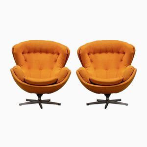 Vintage Partner Swivel Chairs by Lennart Bender for Ulferts Möbler, 1970s, Set of 2