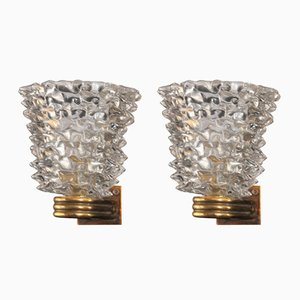 Rostrum Wall Lights from Barovier & Toso, 1940s, Set of 2
