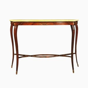 Console Table with Marble Tabletop by Paolo Buffa, 1940s