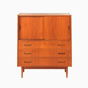 Veneered Teak & Plywood Chest of Drawers, 1960s