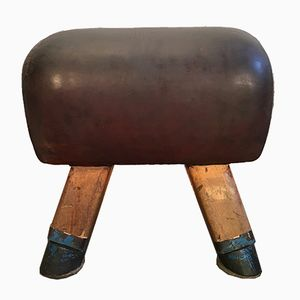 Vintage Leather Gym Stool or Vaulting Horse