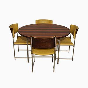 Set de Salle à Manger Mid-Century Moderne en Palissandre par Cees Braakman pour Pastoe