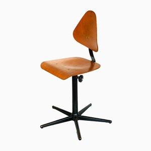 Industrieller Mid-Century Werkstatt Stuhl von Bosch