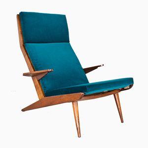 Model Lotus Velvet Lounge Chair by Rob Parry for De Ster Gelderland, 1960s