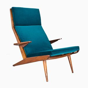 Modell Lotus Samt Sessel von Rob Parry für De Ster Gelderland, 1960er