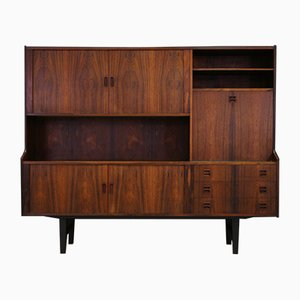 Mid-Century Palisander Furnier Highboard