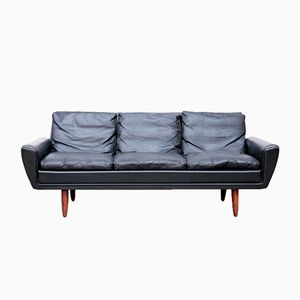 Black 3-Seater Sofa by Georg Thams, 1964