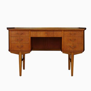 Mid-Century Teak Veneer Writing Desk