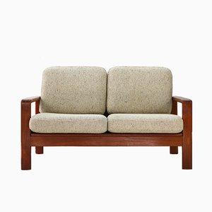 2-Sitzer Sofa aus Teak & Wolle, 1970er
