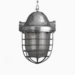 Large Industrial Aluminum Pendant Lamp, 1950s