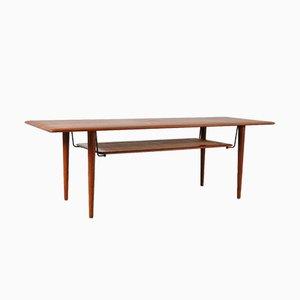 Table Basse en Teck par Peter Hvidt & Orla Mølgaard-Nielsen pour France & Søn, 1950s