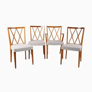 Dutch Birch Dining Chairs by A. A. Patijn, 1950s, Set of 4