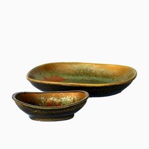 Scodelle in ceramica di Alessio Tasca, anni '70, set di 2