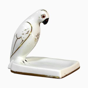 Vintage Ceramic Parrot Ashtray from Robj