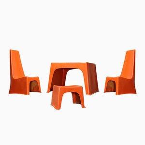 Juego de muebles infantiles colección Poly Bel Twen de Brüder Beltzig Design, 1967