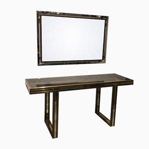 Konsolentisch & Spiegel Set von Romeo Rega, 1970er