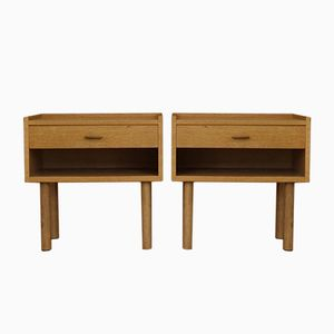 Oak Nightstands by Hans J. Wegner for Ry Mobler, 1978, Set of 2