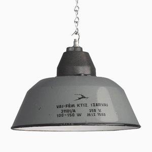 Hungarian Factory Pendant Lamp, 1940s