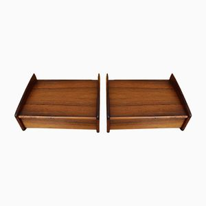 Rosewood Bedside Drawers by Melvin Mikkelson, 1950s, Set of 2