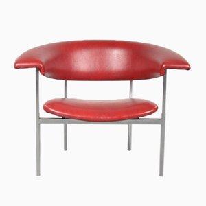 Roter Skai Sessel von Rudolf Wolf für Elsrijk, 1960er