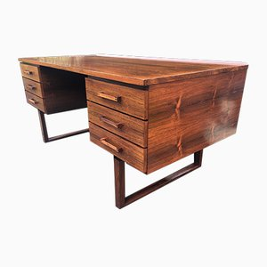 Danish Rosewood Desk by Thorben Valeur and Henning Jensen, 1960s
