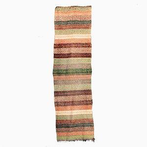 Tapis Vintage Fait Main en Coton Multicolore