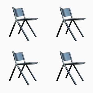 Nodo Chairs by Mauro Pasquinelli for Tisettanta, 1976, Set of 4