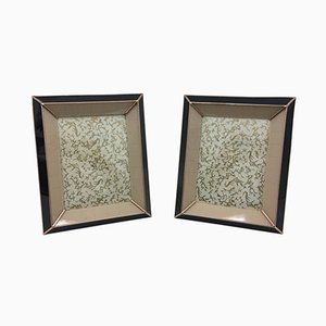 Art Deco Italian Glass Picture Frames, 1930s, Set of 2