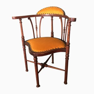 Art Nouveau Mahogany Side Chair, 1910s