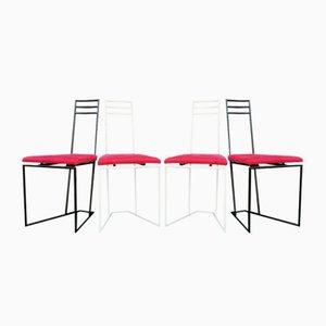 Dutch Black & White Chairs, 1960s, Set of 4