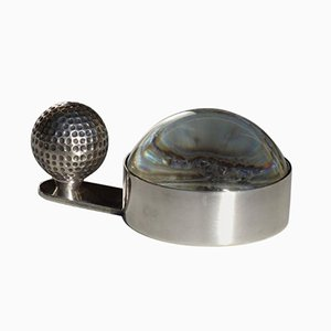 Silver Golf Ball Magnifying Glass from Hermes, 1980s
