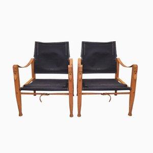 Vintage Safari Chairs by Kaare Klint for Rud. Rasmussen, Set of 2