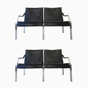 Art Collection 2-Seater Sofas by Preben Fabricius & Jorgen Kastholm for Walter Knoll, 1970s, Set of 2