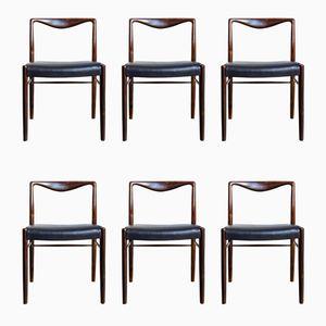 Palisander Esszimmerstühle von Kai Lyngfeldt Larsen für Søren Willadsen Møbelfabrik, 1960er, 6er Set