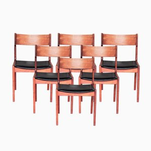 Danish Dining Chairs by Kai Kristiansen for Korup Stolefabrik, 1960s, Set of 8