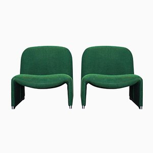 Italian Alky Lounge Chairs by Giancarlo Piretti for Castelli, 1972, Set of 2