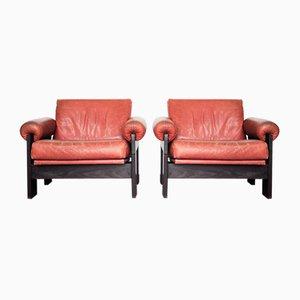 SZ73 Sessel aus Leder & Wenge von Martin Visser für 't Spectrum, 1960er, 2er Set