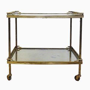 Mid-Century Brass & Mirror Trolley