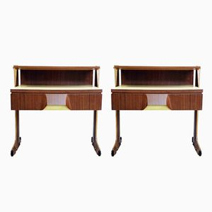 Mid-Century Italian Bedside Tables Or Nightstands, Set of 2